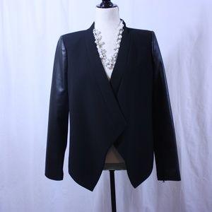 BCBG NWOT Black and Vegan Leather Jacket